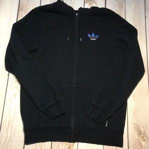 Adidas men's trefoil zip hoodie